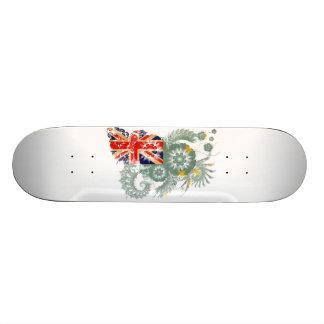 Tuvalu Flag Custom Skate Board