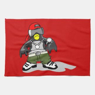 tux-30043 GANGSTER ATTITUDE FUNNY  tux penguin  da Kitchen Towel