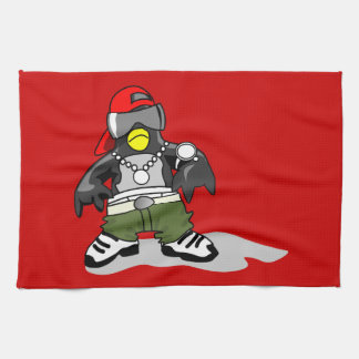 tux-30043 GANGSTER ATTITUDE FUNNY  tux penguin  da Tea Towel