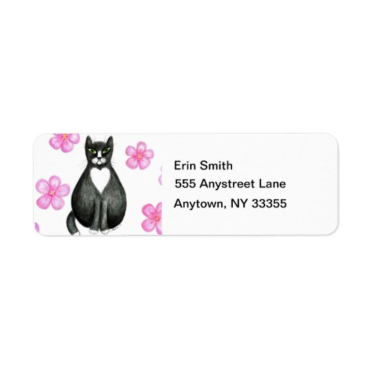 Tux in Flowers address labels