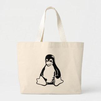 Tux Penguin - (Linux, Open Source, Copyleft, FSF) Jumbo Tote Bag