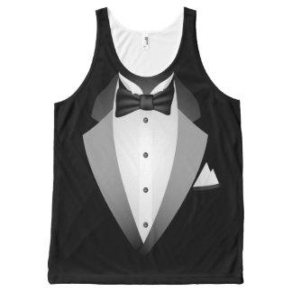 Tuxedo All-Over Print Tank Top