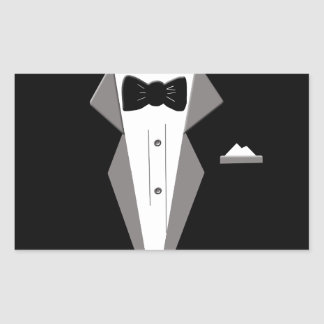 Tuxedo Art Rectangular Sticker