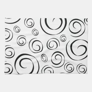 Tuxedo Black and White Swirl Pattern PT81 Hand Towel