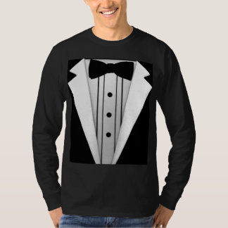Tuxedo Black Bow Tie Formal T-Shirt