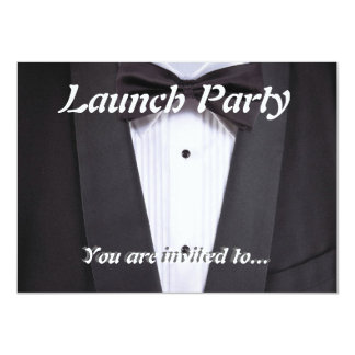 Grand opening celebration invitations announcements zazzle tuxedo black tie party formal card stopboris