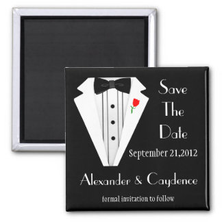 Tuxedo-Black Tie Save The Date Magnet
