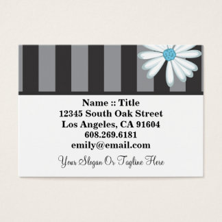 Tuxedo Blues High Fashion Boutique Floral Designer Business Card