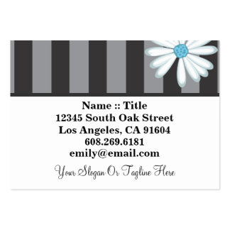 Tuxedo Blues High Fashion Boutique Floral Designer Pack Of Chubby Business Cards