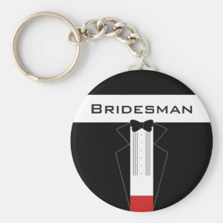 Tuxedo Bridesman customised key ring Basic Round Button Key Ring