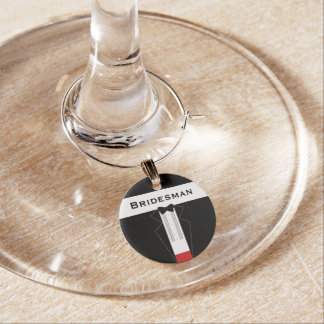 Tuxedo Bridesman Wedding Wine Charm