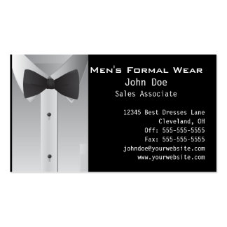 Tuxedo Business Card