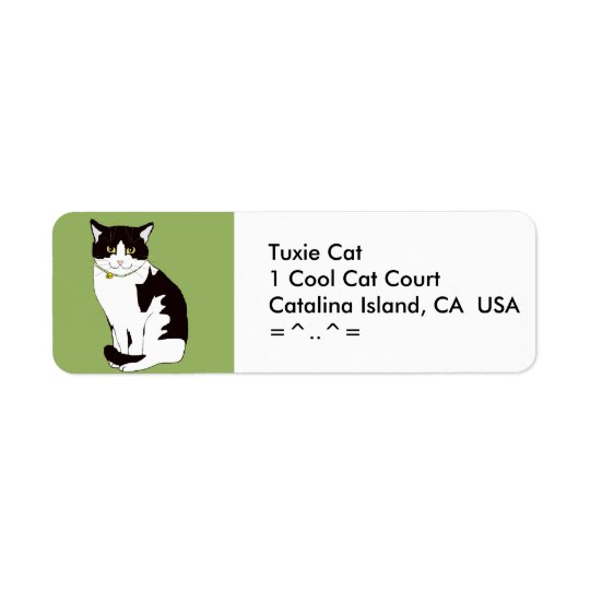 Tuxedo Cat Address Labels