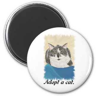 Tuxedo Cat Adopt a cat promotion magnets
