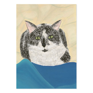 Tuxedo Cat Artist Trading Card Large Business Cards (Pack Of 100)