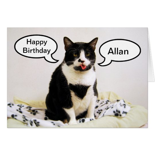 Tuxedo Cat Birthday Allan Brother Humour Card