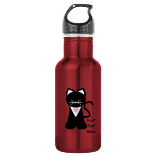 Tuxedo Cat (customizable) 532 Ml Water Bottle