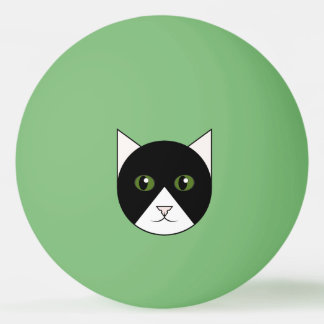Tuxedo Cat Face Ping-Pong Ball