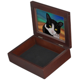 Tuxedo Cat Keepsake Boxes