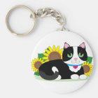 Tuxedo Cat Key Ring