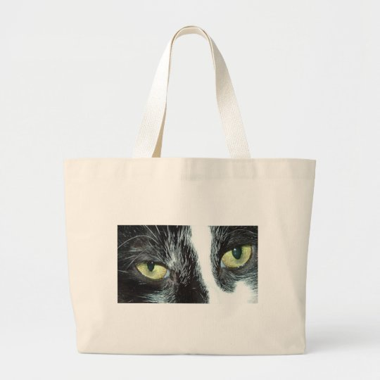 Tuxedo Cat Large Tote Bag