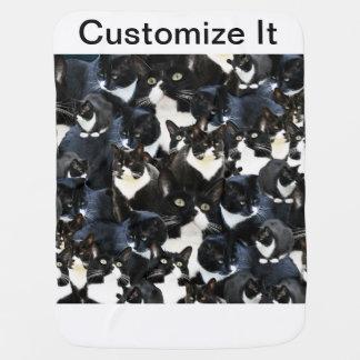 Tuxedo Cat Madness Pramblanket