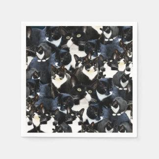 Tuxedo Cat Madness Paper Serviettes