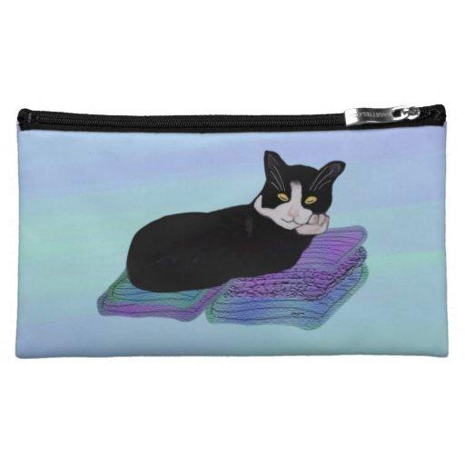 Tuxedo Cat Nap Cosmetic Bag