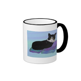Tuxedo Cat Nap Mugs