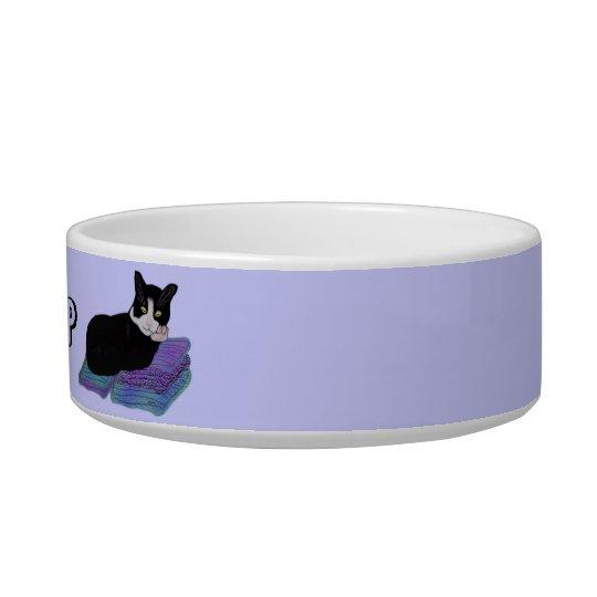 Tuxedo Cat Nap Pet Bowl