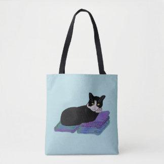 Tuxedo Cat Nap Tote Bag