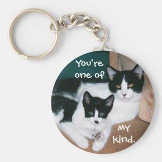 Tuxedo cats keychain