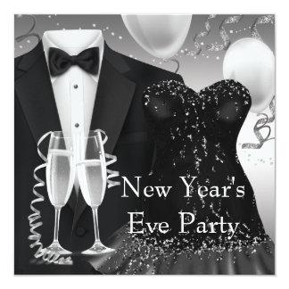 Tuxedo Champagne Confetti Black Tie Party 13 Cm X 13 Cm Square Invitation Card