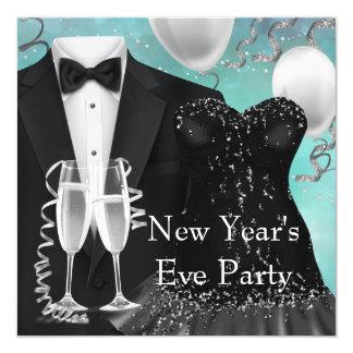 Tuxedo Champagne Confetti New Years Eve Party 13 Cm X 13 Cm Square Invitation Card