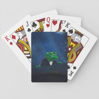 Tuxedo Frog at Piano  #1 Playing Cards