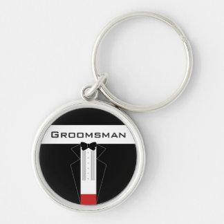 Tuxedo Groomsman customised keychain