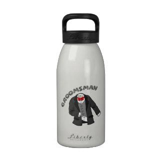 Tuxedo Groomsman Water Bottles