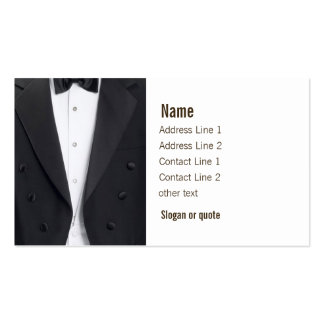 Tuxedo Jacket and Bow Tie Double-Sided Standard Business Cards (Pack Of 100)