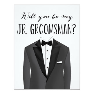Tuxedo Junior Groomsman | Groomsman Card