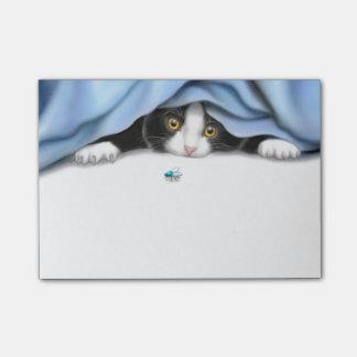 Tuxedo Kitten Bug Hunter Post-it Notes