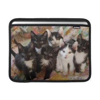 Tuxedo Kitten Group Sleeve For MacBook Air