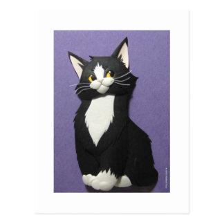 Tuxedo Kitten Postcard