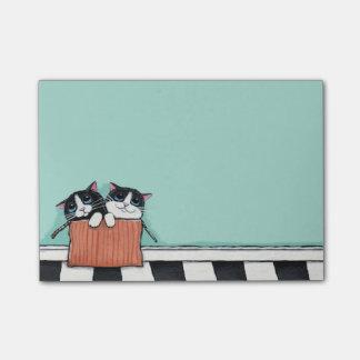 Tuxedo Kittens in a Box Post-it® Notes