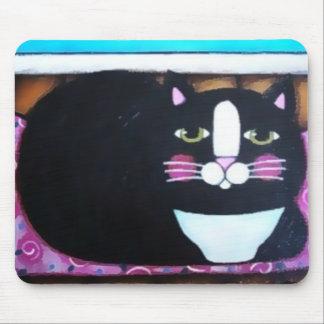 Tuxedo Kitty Mouse Mat