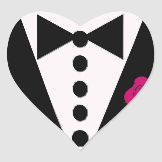 Tuxedo Sticker You Choose Rose Color