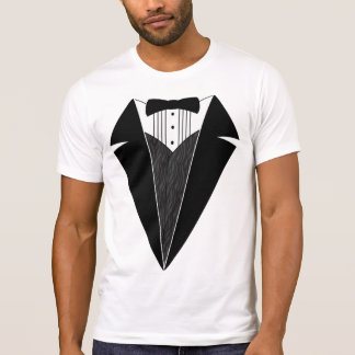 Tuxedo T-Shirt, White with Black Bowtie T-Shirt