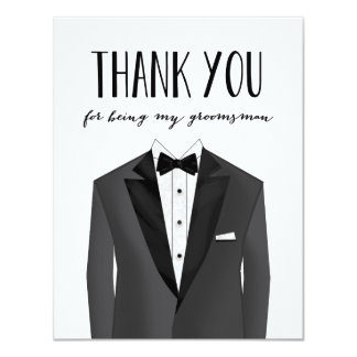 Tuxedo Thank You Groomsman | Groomsman Card