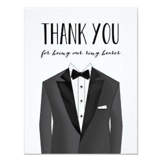 Tuxedo Thank You Ring Bearer | Groomsman 11 Cm X 14 Cm Invitation Card