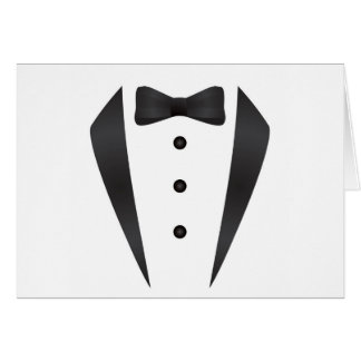 Tuxedo wedding gifts and props for groom greeting card