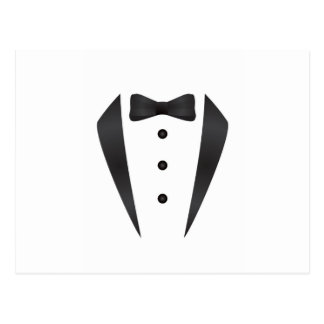 Tuxedo wedding gifts and props for groom postcard